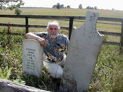 Eric F. James at Cole Cemetery, Midway, Kentucky