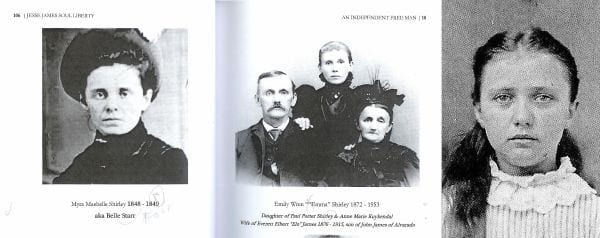 Belle Starr and her Shirley family