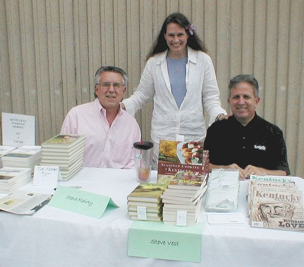 Authors Steve Flairty and Steve Vest with Kristi Robinson