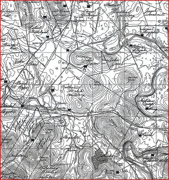 topo map of Shopville, Kentucky