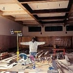 George Jacjson and the ballroom being restored