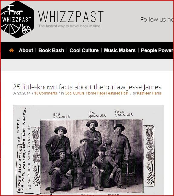 WhizzPast's fake Jesse James Gang photo