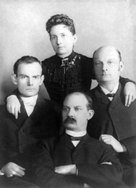 Henrietta Younger-Rawlins with brothers Jim, Bob, & Cole Younger
