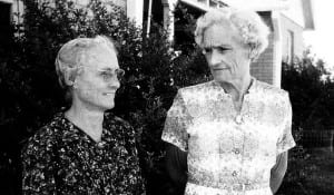 Nora Ruth Miller 1900-1964 & Annie Harwood Miller 1895-1993, second and first cousins respectively of Clell Miller of the James Gang.