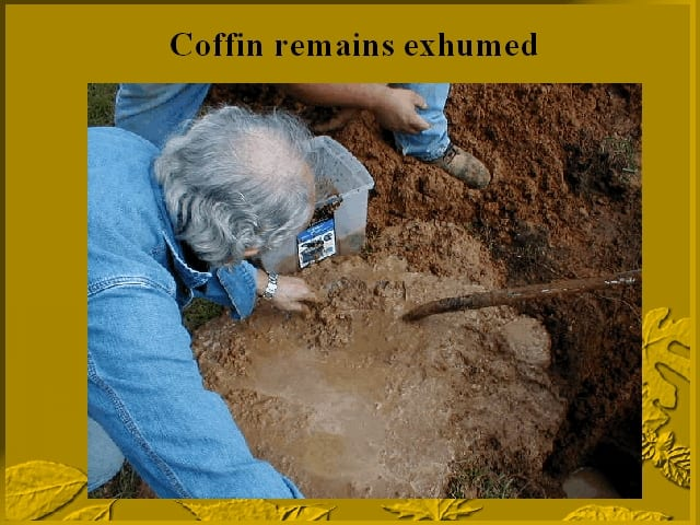 Spare coffin remains