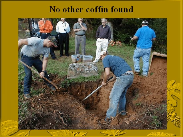 Conclusion of one coffin only