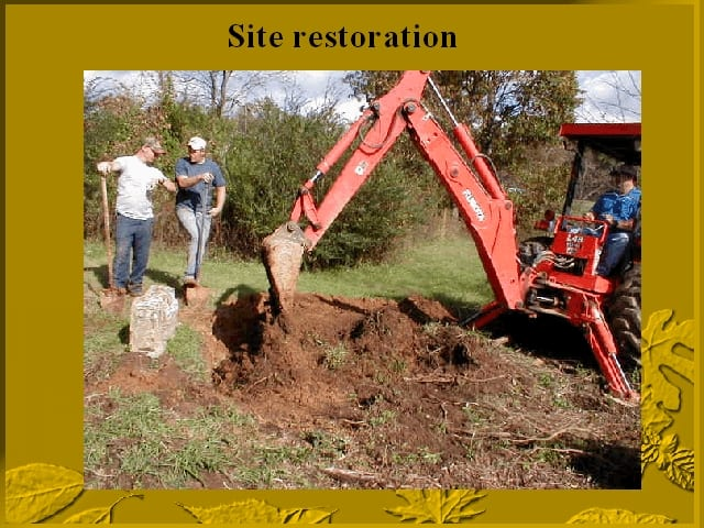 Restoring the exhumation site of Jesse James' twins