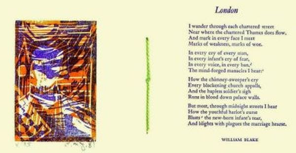 William Blake poetry published by C. M. James