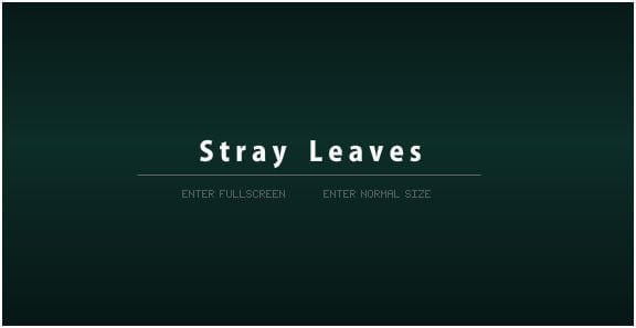 Welcome swf-Stray Leaves
