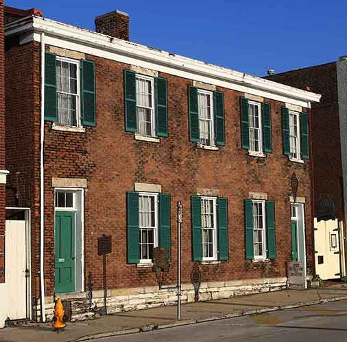 Marshall's House & Jail, Independence, Jackson County, Missouri, where Frank James was incarcerated.