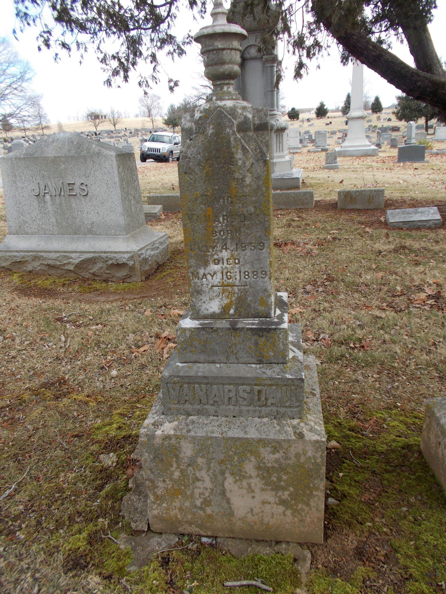 Margaret Lightfoot James-Van Arsdall tombstone