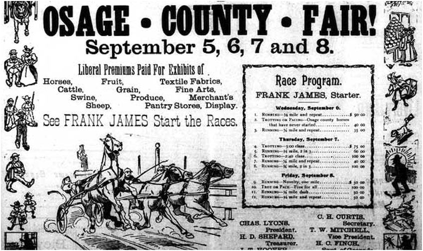Frank James-Osage County Fair