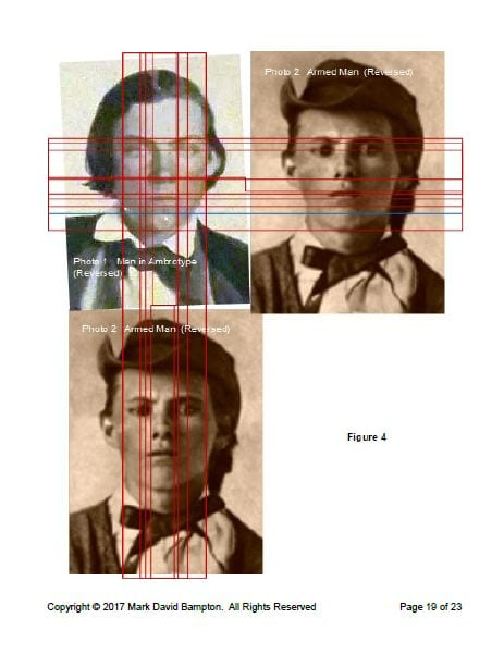 Comparison of ambrotype man and armed man