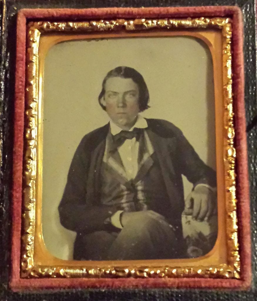 Ambrotype claimed to be Jesse James, disputed under red flags by Jesse James family