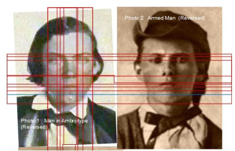 Fake Jesse James image disproved by an authentic one.