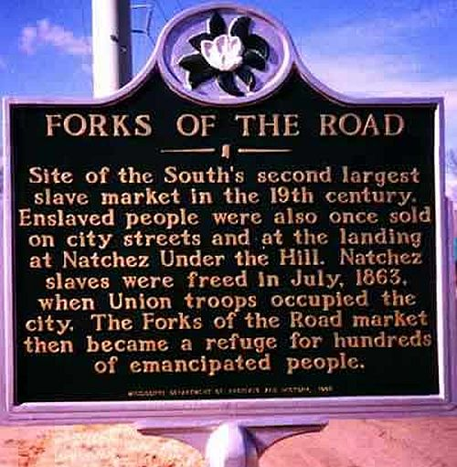 Historical marker-Forks of the Road