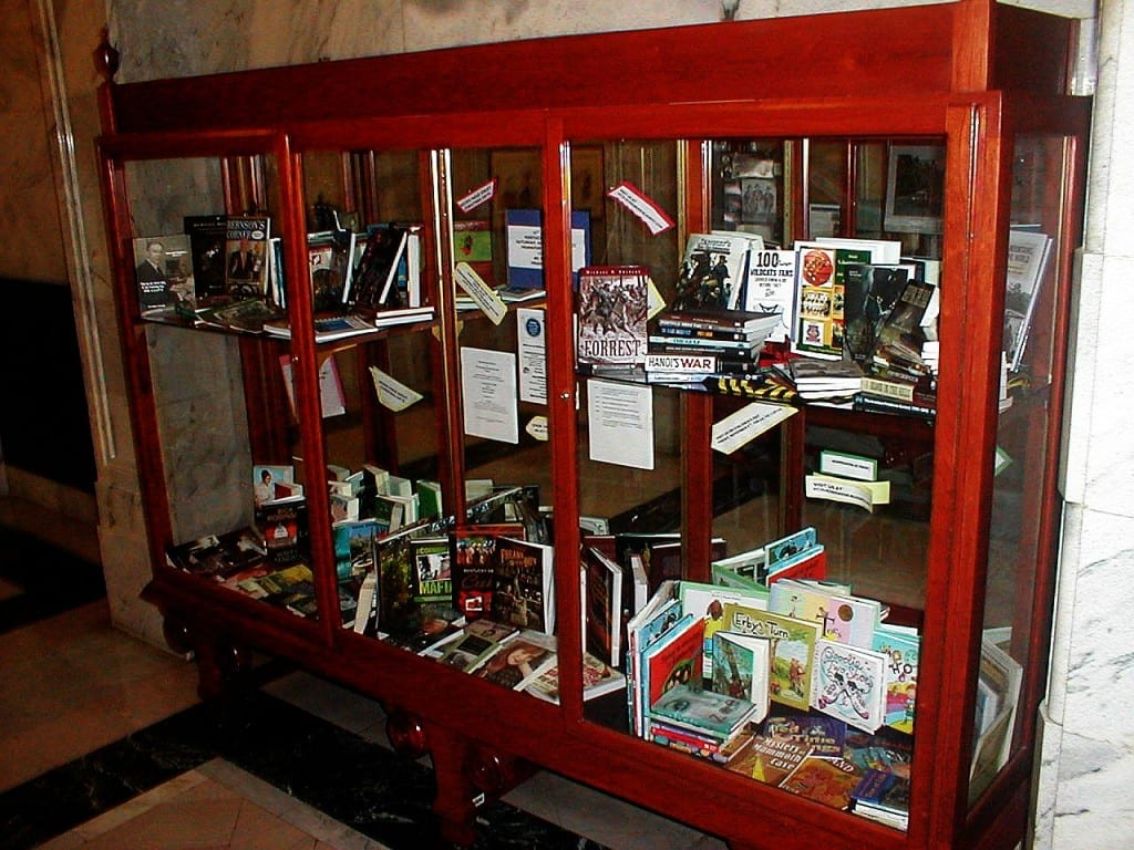 Books on display in the Kentucky Capitol