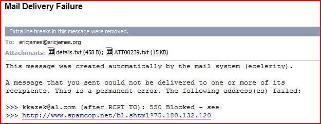 failed email delivery