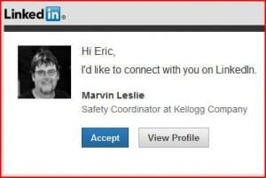 LinkedIn invitation
