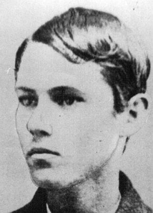 Jesse James in his youth