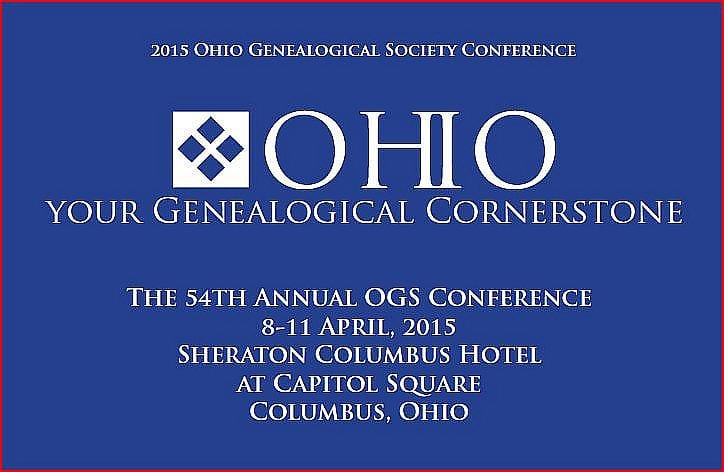 Program for talks by Eric F. James at the Ohio  Genealogical Society Annual Conference 2015