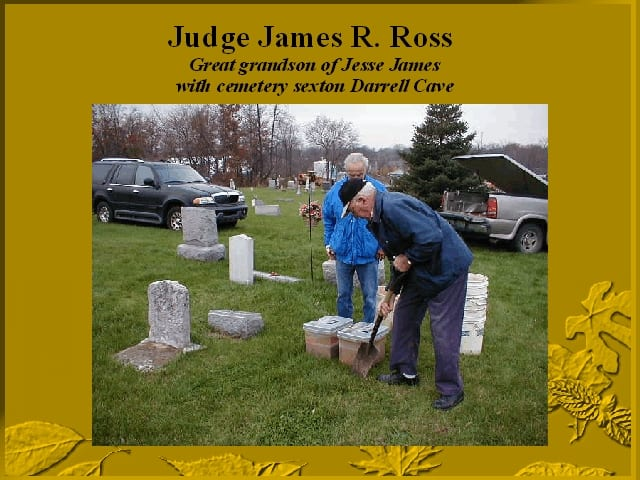 The great-grandson of Jesse James oversees reburial of Jesse's twins