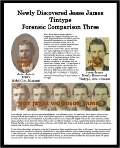 Plate 3 of Lois Gibson's case compares Mills' fake image of Jesse James with a claimed image of Jesse James never seen before