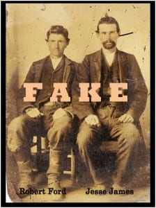 Robert Ford & Jesse James as hoaxed by Sandy Mills & Lois Gibson