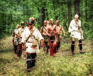 French Indian War reenactors