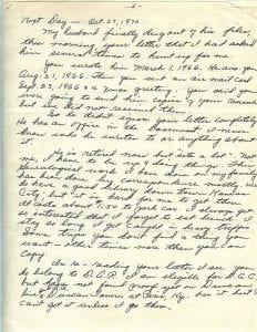 Letter of Thelma Duncan Barr to Joan Beamis, Oct. 26-27, 1970, page 6b