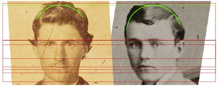 Linear forensics applied to authentic image of Bob Ford with a claimed image