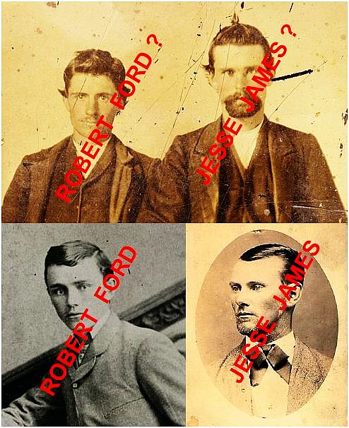 True Jesse James and Bob Ford-Fake Jesse James and Bob Ford
