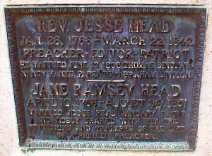 Jesse Head plaque