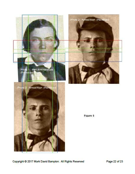 grid comparison of ambrotype and armed man