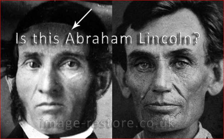 Fake Abraham Lincoln compared to an autehtic Abraham Lincoln.