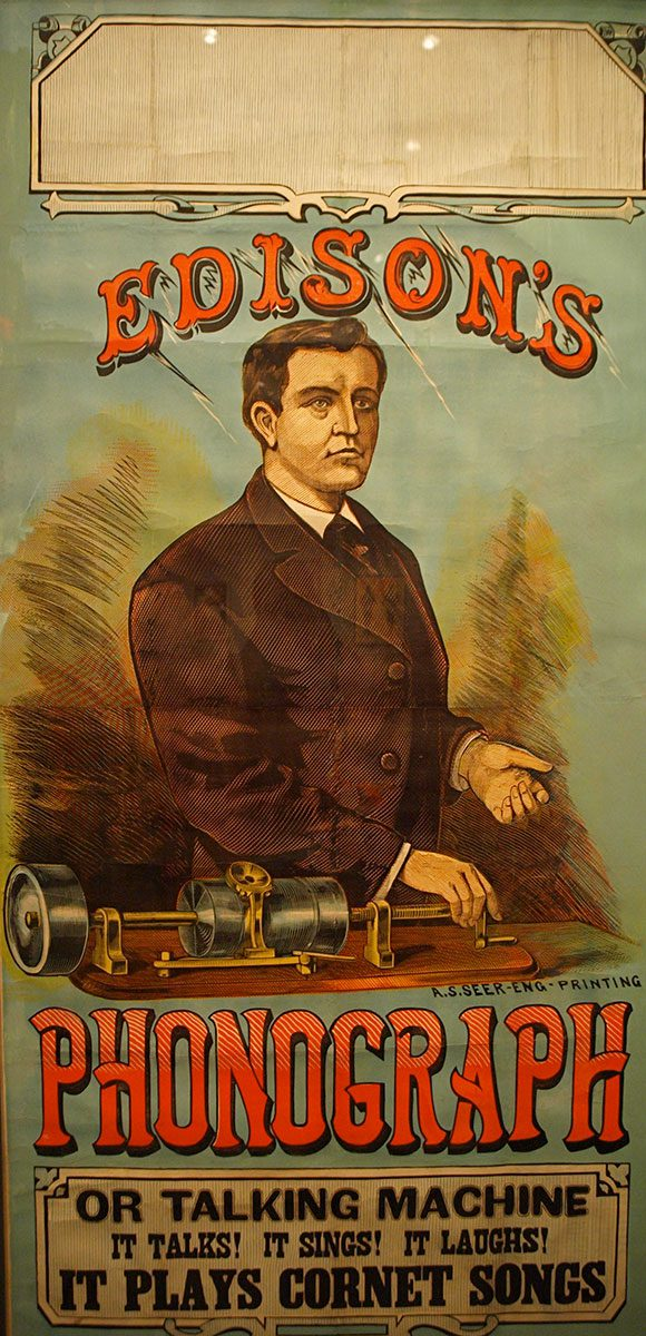 Poster for Edison Talking Machine
